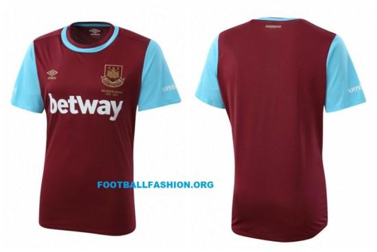 The Boleyn Kit - West Ham United 2015 2016 Umbro Home Football Kit, Shirt, Soccer Jersey