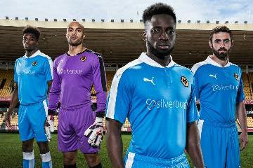 Wolverhampton Wanderers FC 2015 2016 Blue PUMA Away Football Kit, Soccer Jersey, Shirt