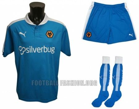 Wolverhampton Wanderers FC 2015 2016 Blue PUMA Away Football Kit, Soccer Jersey, Shirt