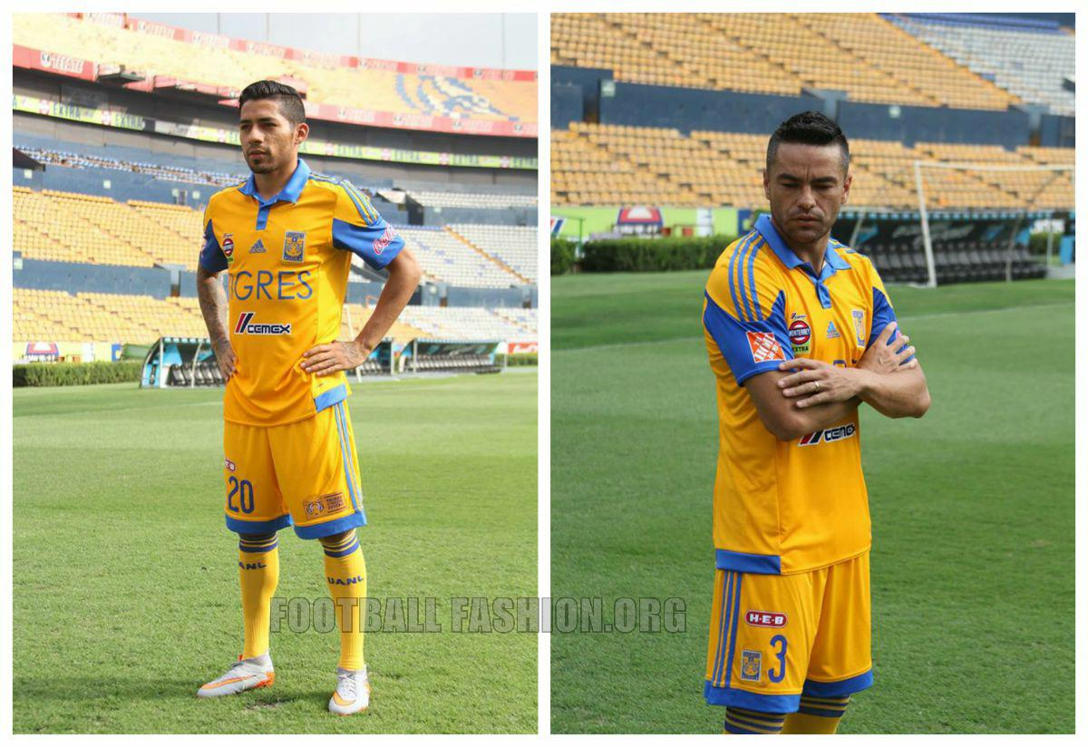 Tigres UANL 2015 16 adidas Home and Away Jerseys – FOOTBALL FASHION.ORG 25d22afdd