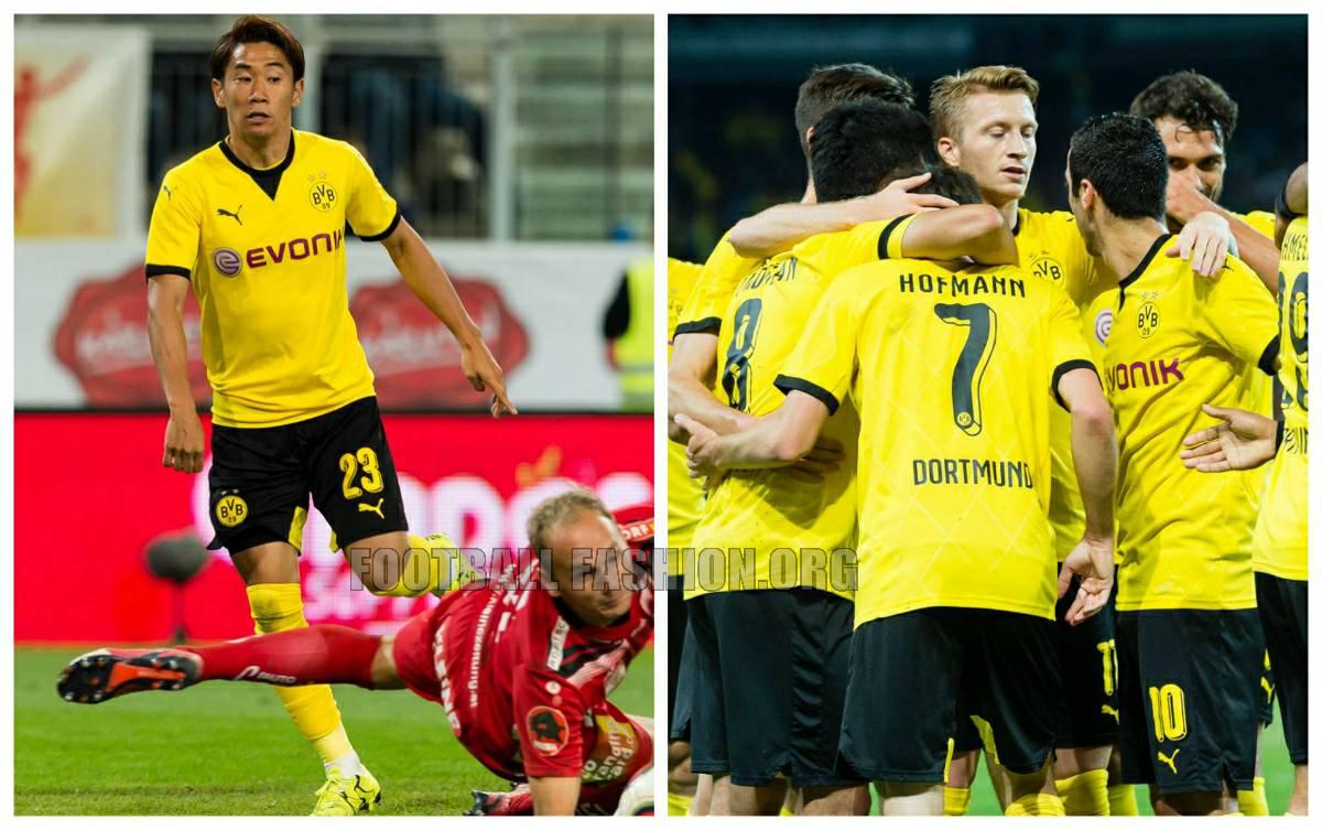 6d55ea102 Borussia Dortmund 2015 2016 PUMA Europa League Home Football Kit,  International Soccer Jersey, Ambassador