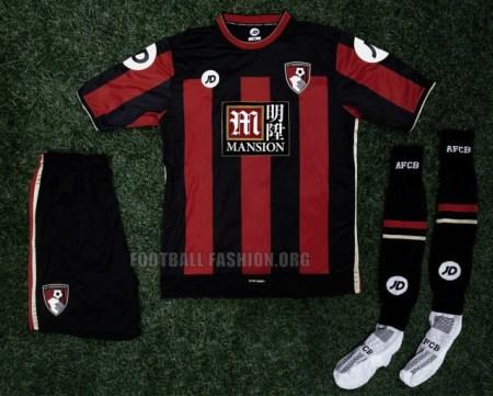 AFC Bournemouth 2015 2016 JD Sports Home Football Kit, Shirt, Soccer Jersey