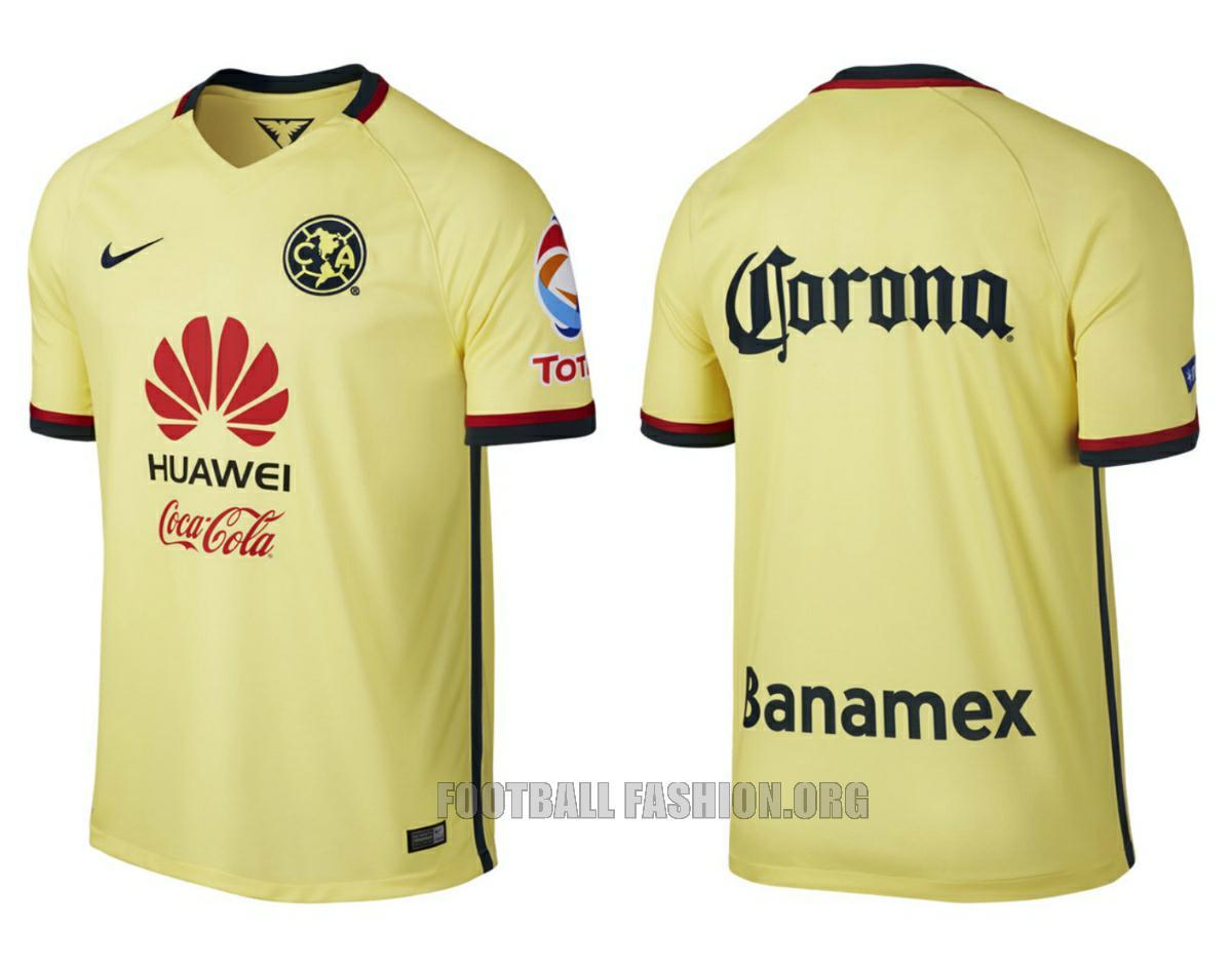 Club América 2015 16 Nike Home and Away Jerseys – FOOTBALL FASHION.ORG 1db2d6a9019c0