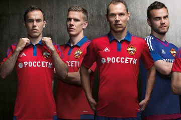 CSKA Moscow 2015 2016 adidas Home and Away Football Kit, Soccer Jersey, Shirt