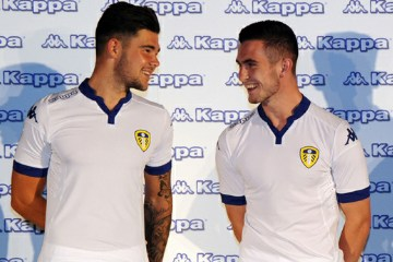 Leeds United Football Club 2015 2016 White Kappa Home Kit, Soccer Jersey, Shirt