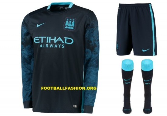 6da6def93 Manchester City FC 2015 16 Nike Away Kit - FOOTBALL FASHION.ORG