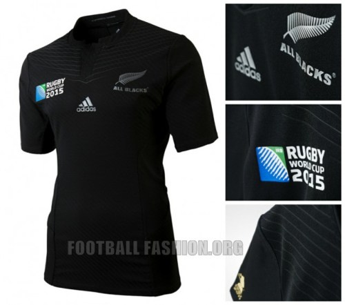 New Zealand All Blacks 2015 Rugby World Cup adidas Home Jersey, Kit, Shirt