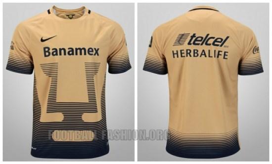 Pumas de la UNAM 2015 2016 Nike Home and Away Soccer Jersey, Football Kit, Shirt, Camiseta de Futbol, Equipacion