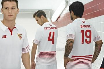 Sevilla Fútbol Club 2015 2016 New Balance Home, Away and Third Football Kit, Soccer Jersey, Shirt, Equipacion, Camiseta