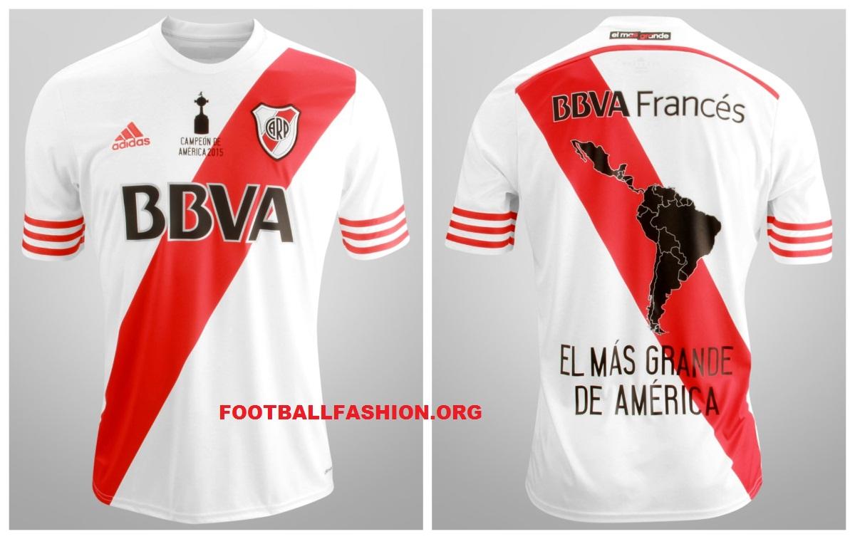 Camiseta Adidas River Plate Suplente 2015 Campeon