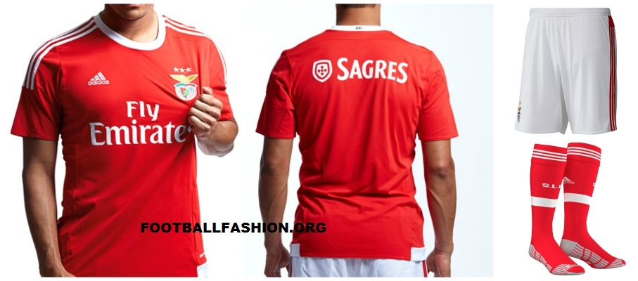 new product eb5ca f04e7 SL Benfica 2015/16 Home and Away Kits - FOOTBALL FASHION.ORG