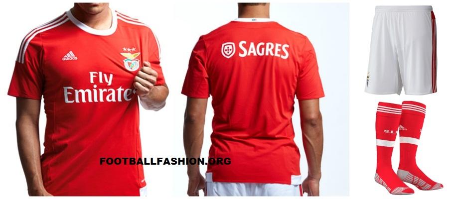 new product 6e7b5 e5710 SL Benfica 2015/16 Home and Away Kits - FOOTBALL FASHION.ORG