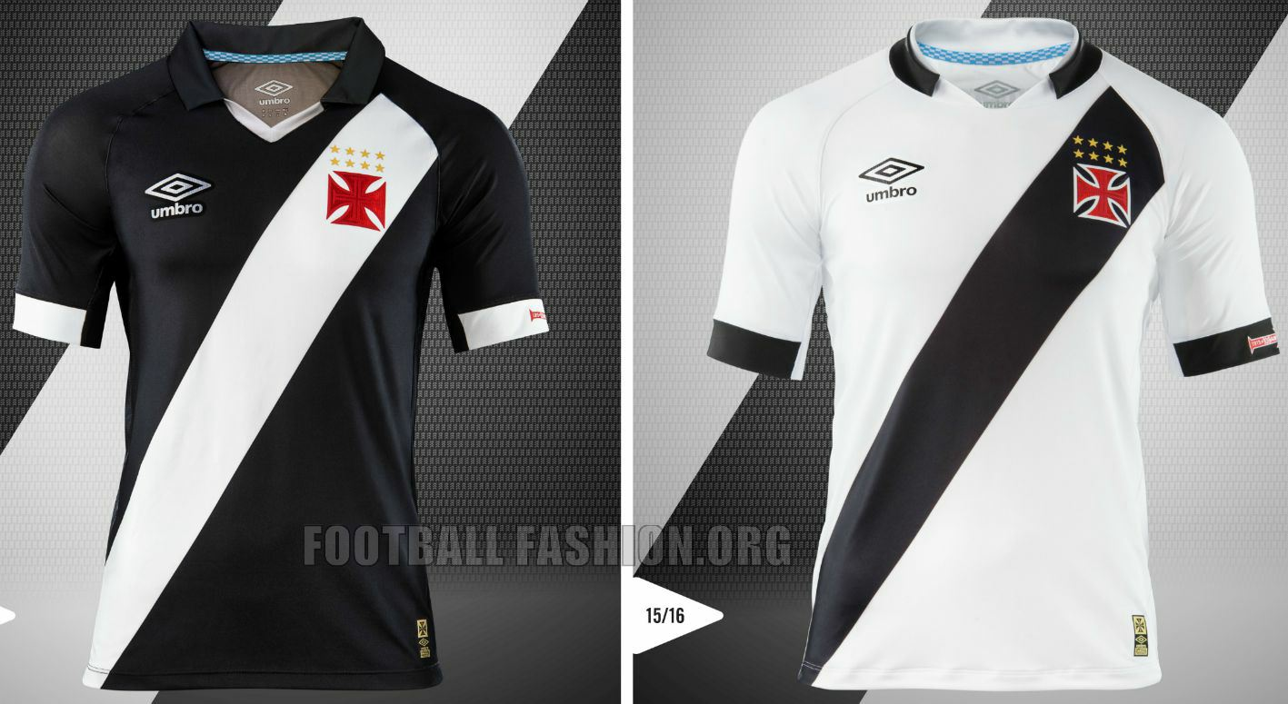 211652b2b5 CR Vasco da Gama 2015 16 Umbro Home and Away Jerseys – FOOTBALL ...