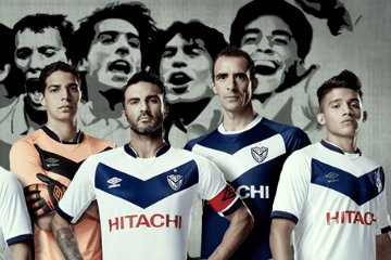 Vélez Sarsfield 2015 2016 Umbro Home and Away Soccer Jersey, Shirt, Football Kit, Camiseta de Futbol, Equipacion