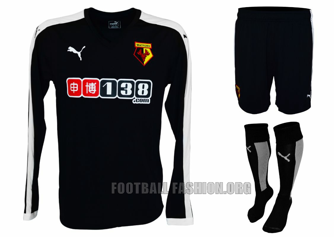 29854187f5dd Watford FC 2015 16 PUMA Away Kit - FOOTBALL FASHION.ORG