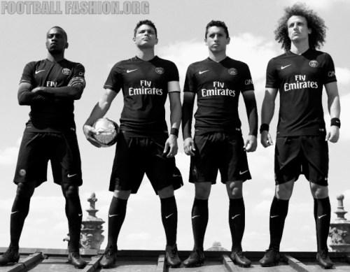 Paris Saint-Germain 2015 2016 Nike Black Third Football Kit, Soccer Jersey, Shirt, Maillot Noir