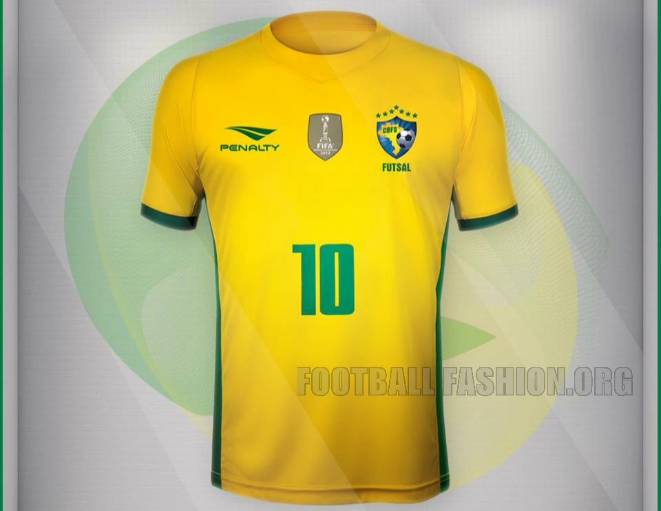 1e6531395f Brazil Futsal 2015 16 Penalty Home Kit – FOOTBALL FASHION.ORG