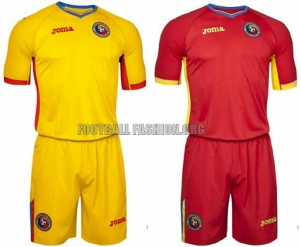 Romania EURO 2016 Joma Home and Away Football Kit, Soccer Jersey, Shirt, TRICOU REPLICA NATIONALA GALBEN 2015 2016