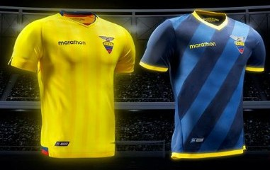 Ecuador 2015 2016 Marathon Home and Away Football Kit, Soccer Jersey, Shirt, Camiseta del Rumbo al Mundial 2018