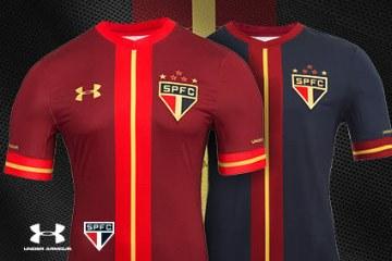 São Paulo FC 2015 2016 Under Armour Third Football Kit, Soccer Jersey, Shirt, Camisa