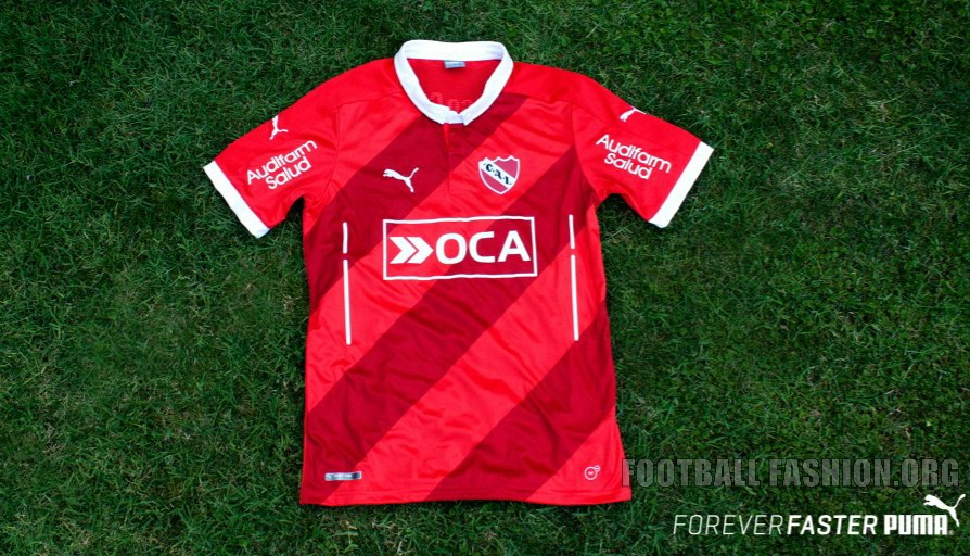 club atltico independiente 2016 puma red home soccer jersey football kit shirt camiseta