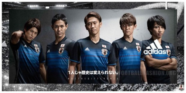 9a8469d28639a Japan 2016 adidas Home and Away Kits - FOOTBALL FASHION.ORG