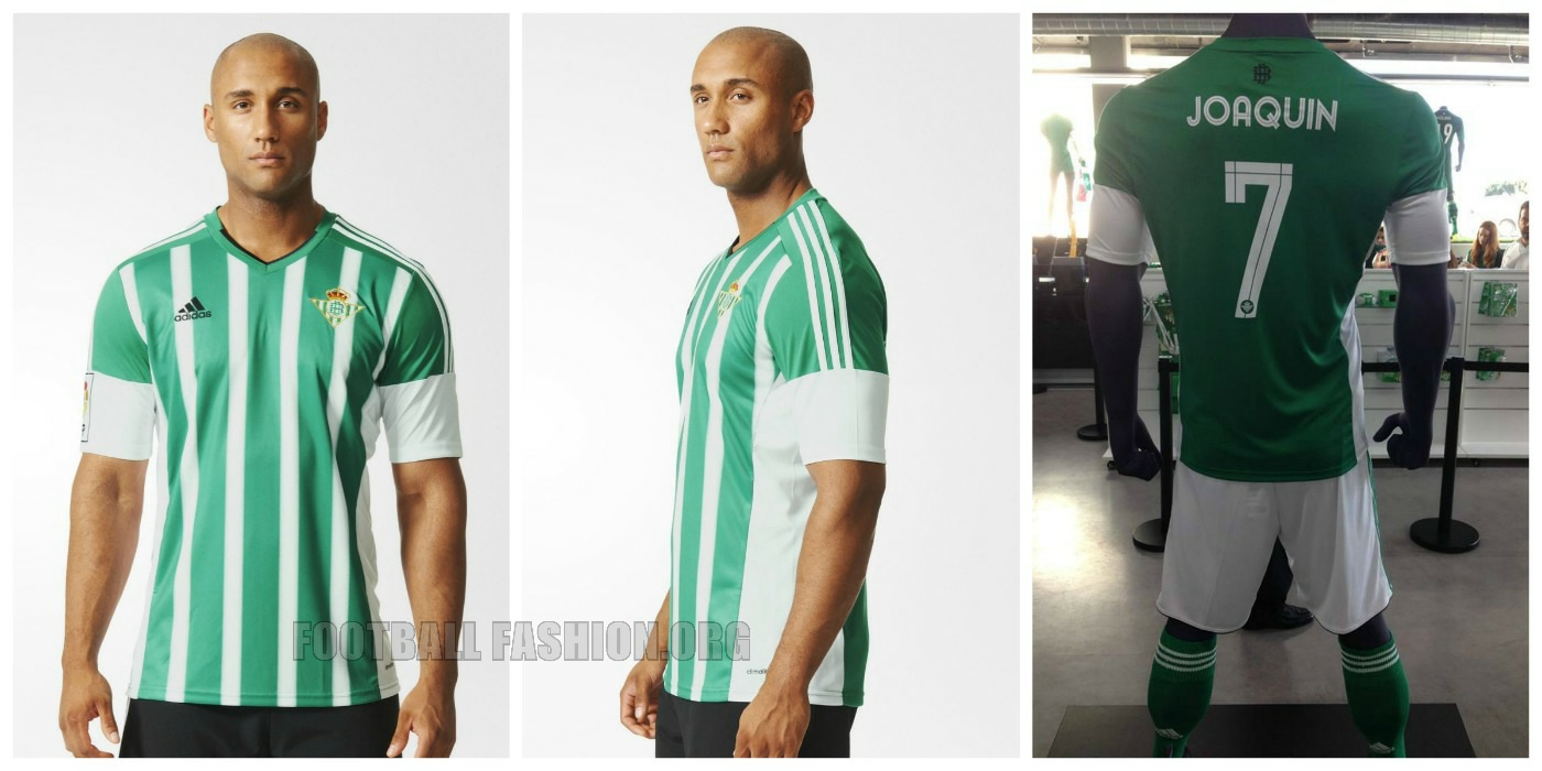 aleatorio bebida Lleno  Real Betis 2015/16 adidas Home, Away and Third Kits - FOOTBALL FASHION