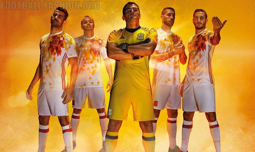 Spain EURO 2016 adidas Away Kit – FOOTBALL FASHION.ORG c20ed62b7