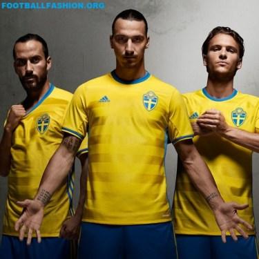 Sweden EURO 2016 Yellow adidas Home Football Kit, Soccer Jersey, Shirt, Sverige SvFF matchtröja