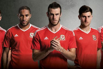 Wales EURO 2016 adidas Home and Away Football Kit, Soccer Jersey, Shirt