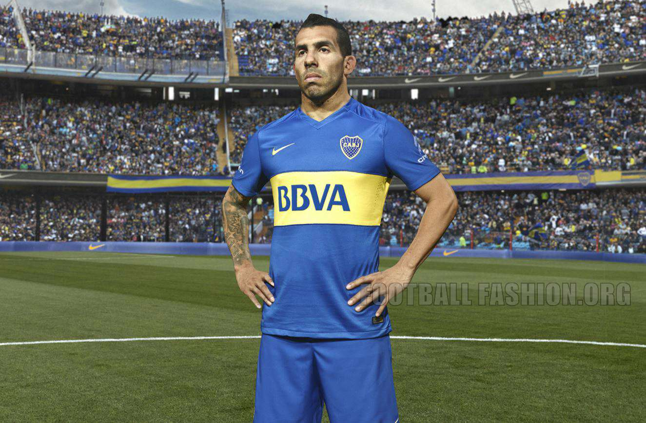 Boca Juniors: Boca Juniors 2016 Nike Home Kit