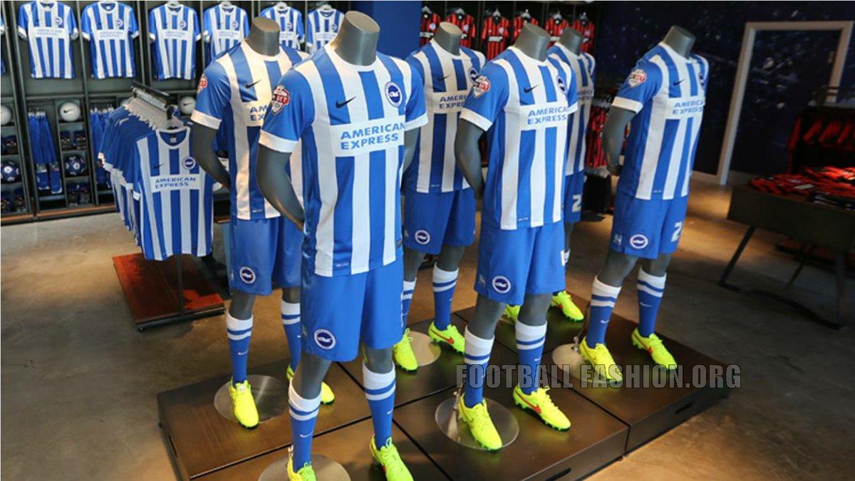 5b91499de7 Brighton & Hove Albion 2015 2016 Nike Home, Away and Third Football Kit,  Soccer