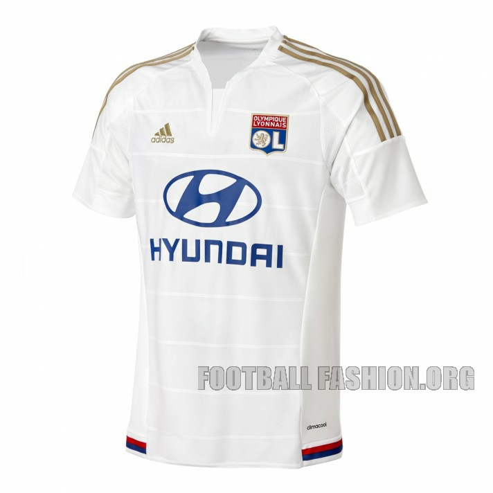 """08d06ddb Currently in fourth place in the 2015/16 Ligue 1 standings, """"Les Gones""""  (The Kids) home and away kits for this season were presented this past  summer."""