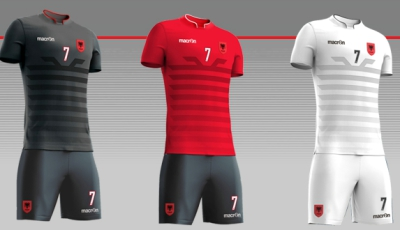 Albania EURO 2016 Macron Home, Away and Third Football Kit, Soccer Jersey, Shirt, Shqiptare Loje
