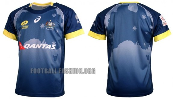 Australia Rugby Sevens 2016 Asics Home and Away Jersey, Shirt, Kit