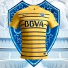 Boca Juniors 2016 Nike Yellow Away Soccer jersey, Football Kit, Camiseta de Futbol Alternativa, Equipacion, Piel, Playera