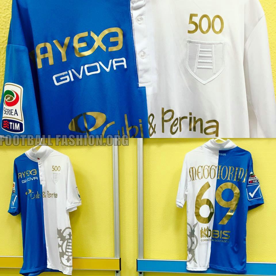 Chievo verona s 500th serie a match commemorative kit for Uniform verona