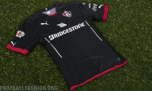 Club Atlas 2016 Black PUMA Third Soccer Jersey, Football Kit, Shirt, Camiseta de Futbol Alternativa, Piel, Playera, Equipacion