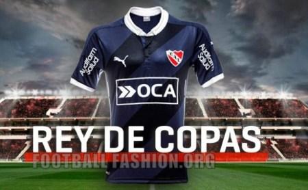 Club Atlético Independiente 2016 PUMA Blue Away Soccer Jersey, Football Kit, Shirt, Camiseta de Futbol