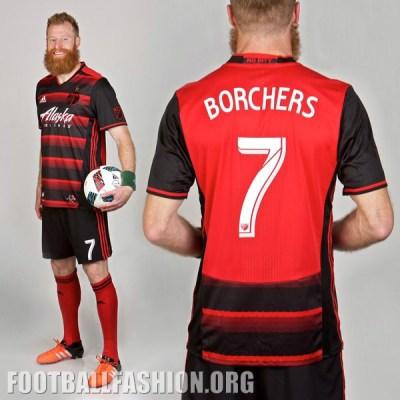 Portland Timbers 2016 adidas Away MLS Soccer Jersey, Shirt, Kit, Camiseta de Futbol