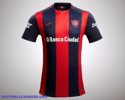San Lorenzo 2016 Nike Home Soccer Jersey, Football Kit, Shirt, Camiseta de Futbol, Playera, Piel, Equipacion