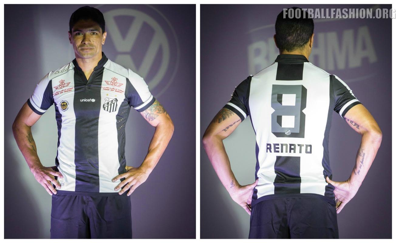 Santos FC Unveil 2016 Kappa Home And Away Kits