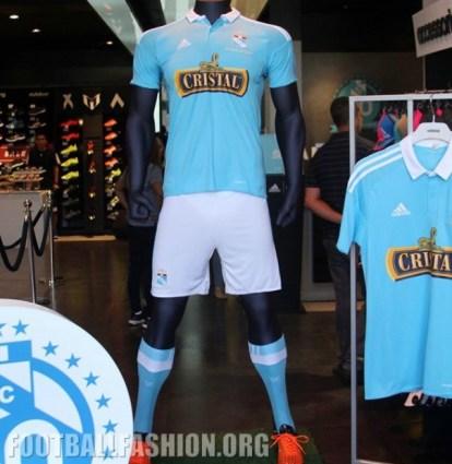 Sporting Cristal 2016 (60th Anniversary) adidas Home Football Kit, Soccer Jersey, Shirt, Camiseta de Futbol, Playera