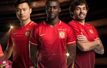 Guangzhou Evergrande FC 2016 Nike Home Football Kit, Soccer Jersey, Shirt, Camisa
