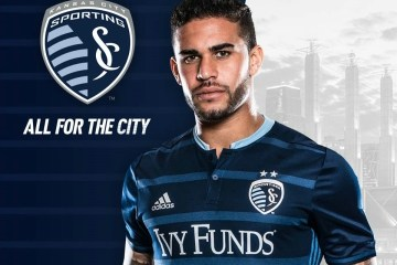Sporting Kansas City 2016 adidas Away Soccer Jersey, Football Kit, Shirt, Camiseta de Futbol MLS