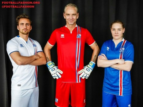 Iceland EURO 2016 Errea Home and Away Football Kit, Soccer Jersey, Shirt, landsliðsbúningur