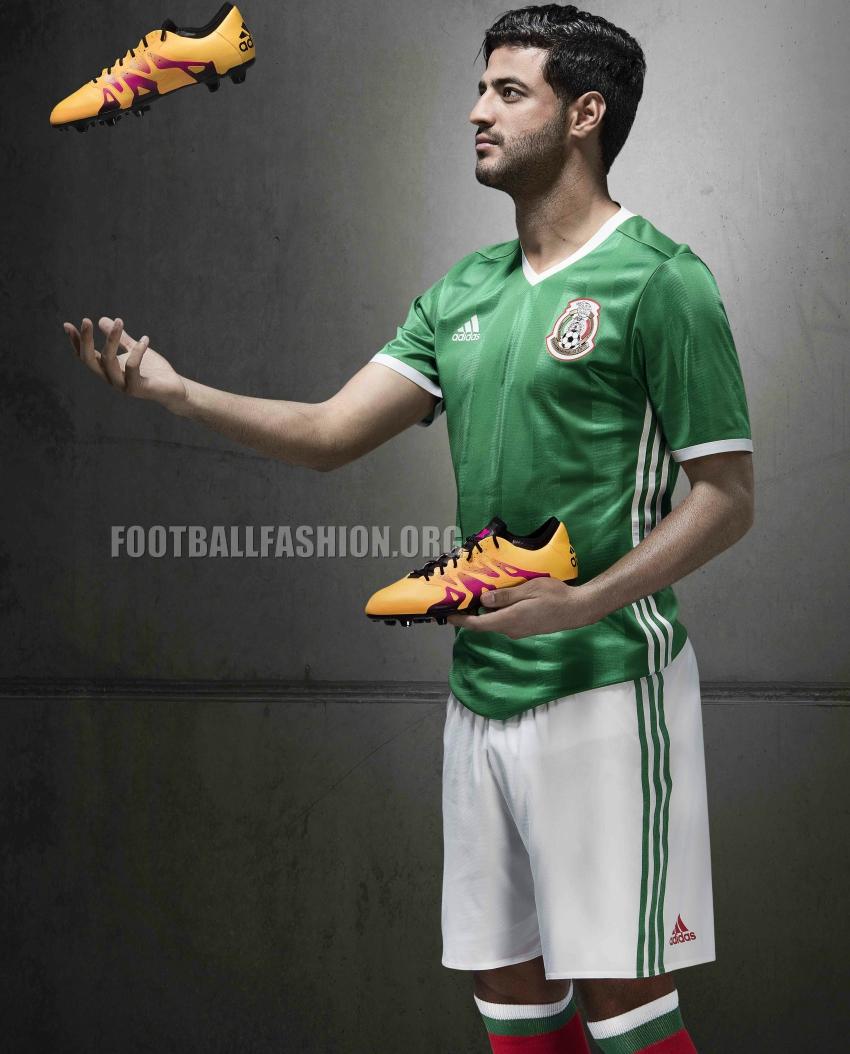 Mexico 2015/16 adidas Home and Away Jerseys | FOOTBALL ...  |Mexico National Team Kit
