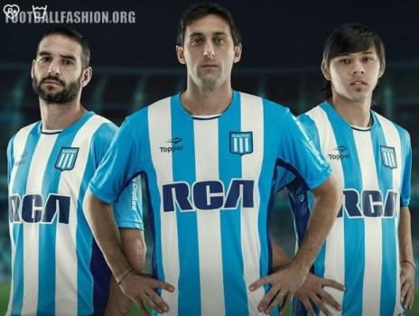 Racing Club de Avellaneda 2016 Topper Home Football Kit, Soccer Jersey, Shirt, Camiseta de Futbol