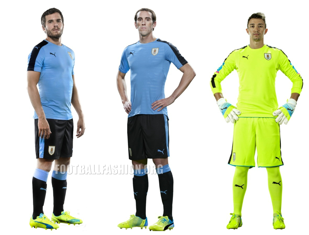 d7cba4bd687 Uruguay 2016 Copa America Centenario PUMA Home and Away Football Kit, Soccer  Jersey, Shirt