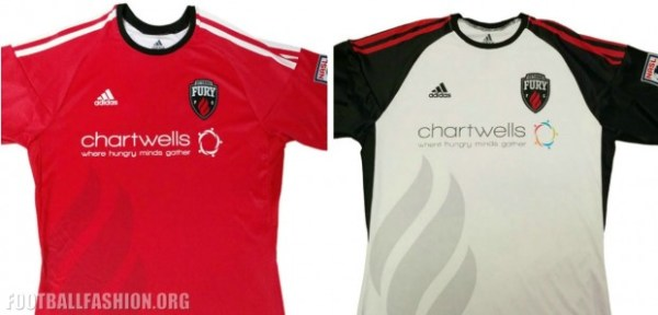 Ottawa Fury FC 2016 adidas Home and Away Soccer Jersey, Shirt, Football Kit, Maillot